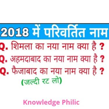 City Named That Renamed / Changed In 2018 (India, Uttar Pradesh & other states) | Knowledge Philic | Ashutosh Tiwari