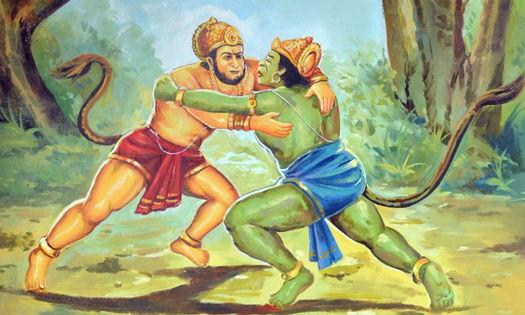 बाली और हनुमान जी की रोचक कहानी - अरुण द्विवेदी