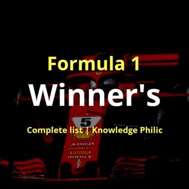 Formula 1 Winner's | Complete list 2018 | Knowledge Philic | Ashutosh Tiwari