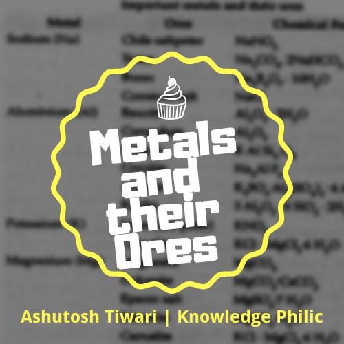 महत्वपूर्ण धातु एवं उनके अयस्कों की सूची | List of Important Metals and their Ores by Ashutosh Tiwari | Knowledge Philic